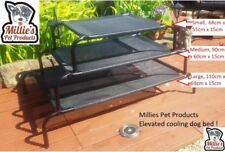 """Millies"" Raised Elevated Bed Dog Pet Hammock Camping Portable elevated bed SML"