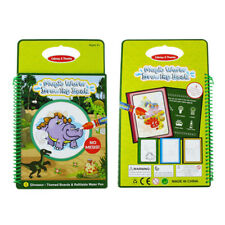 Water Drawing Doodle Card Book, Water Paint with Water, Dinosaurios Water D U3P2