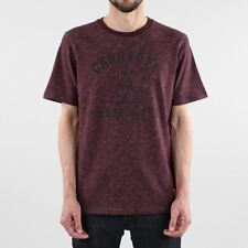 Carhartt WIP Holbrook Native Short Sleeve Cotton T-shirt Amarone Red Heather