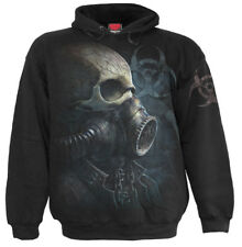 Spiral Direct BIO-SKULL HOODY/Gas Mask/Bio hazard/Tattoo/Rock/Sweathshirt/Hoodie