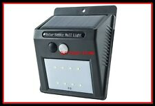 FOCO FARO PANEL SOLAR SENSOR DE MOVIMIENTO RECARGABLE LUZ 8 LED EXTERIOR