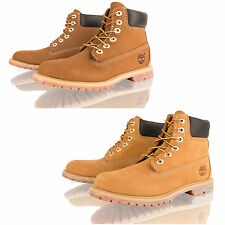 WOMENS LADIES TIMBERLAND WHEAT RUST 10360 WATERPROOF 6 INCH LACE UP ANKLE BOOTS