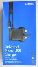 Genuine AC-20x Micro USB Mains Charger with 1.5m Cable for Nokia Phones UK Plug