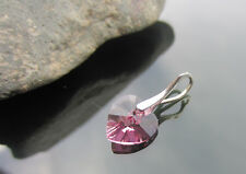 Crystal Heart 925 silver differents colours Pendant made with SWAROVSKI ELEMENTS