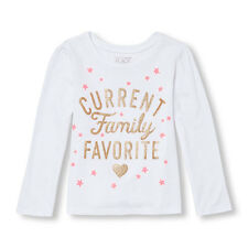 NWT Children's Place Toddler Girls 12-18 18-24 Month Tee Current Family Favorite