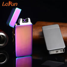 2018 USB Electric Dual Arc Metal Flameless Torch Rechargeable Windproof Lighter