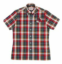 BNWT - Brutus Trimfit Check Shirt  - Red Madras - Small - XXL - Mod / Indie
