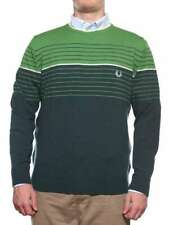 FRED PERRY PULL 30302134 VERDE A RIGHE Pull girocollo a righe Uomo