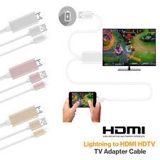 Cable 8 pines Lightning a HDMI TV Adaptador AV 2M HD para iPad iPhone6 6S 6Plus
