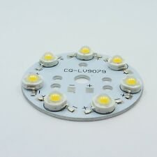 Aluminium Bases Plate and 7pcs LED Chip PCB Heatsink SMD Lamp Bead 1W 3W 5W