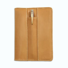 Refillable A6 Notebook Journal Personalised Leather Journal Pen and Card Holders
