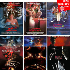 A Nightmare On Elm Street Franchise Movie Posters   A4 A3 A2   Wes Craven