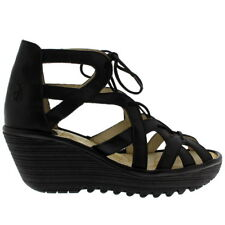 Ladies Fly London Yeli Mousse Cut Out Holiday Summer Peep Toe Wedges All Sizes