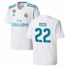 adidas Isco Real Madrid Youth White 2017/18 Home Replica Patch Jersey