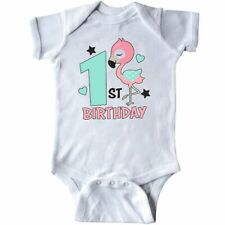Inktastic 1st Birthday With Flamingo Stars And Hearts Infant Bodysuit Birthdays
