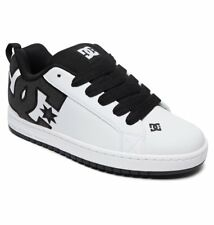DC Shoes Skate COURT GRAFFIK SE BIANCO NERO 300927 Xkww uomo numeri UK 8.5 - 15