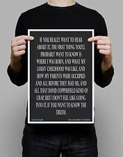 Catcher in the Rye JD Salinger Quote Gift literary home wall art print