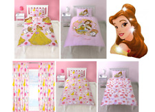 Disney Princess Belle Beauty and the Beast Duvet Cover Set Single Cinderella New