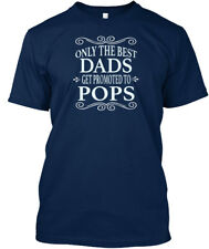Only The Best Dads Get Promoted To Pops T-shirt Élégant