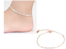 Women Fashion  Anklet Foot Jewelry Chain Available in Silver & Gold