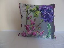 Designers Guild  floral 100% Linen Fabric Alexandria Amethyst Cushion Cover  A