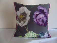 Designers Guild  floral 100% Linen Fabric Alexandria Amethyst Cushion Cover  F