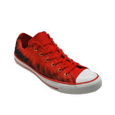 Converse Chuck Taylor OX Printed Trainers - Red  Womens Size