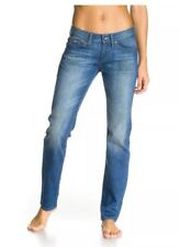 ROXY SUNCRUZERS WOMENS MID BLUE DENIM JEANS