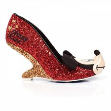 Irregular Choice mickey and freinds oh boy red and gold sparkle