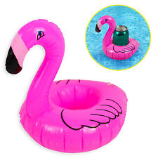 Inflatable Flamingo Floating Drink Can Cup Holder Swimming Pool Tub Beach Party