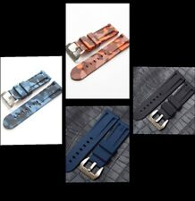 24mm high quality rubber straps with brushed buckle for Panerai watches
