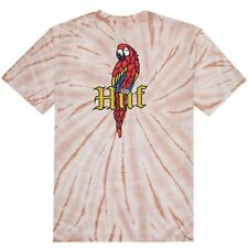 HUF T-SHIRT BAR BIRD TIE-DYE - CORAL HAZE