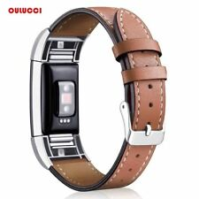 Replacement Fitbit Charge 2 Bands Leather Straps Band Interchangeable Stainless