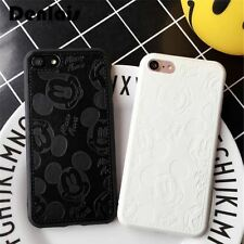 PU Leather 3D Mickey Minnie Mouse iPhone 8 7 7Plus 6 6S 6Plus Phone Case Cover