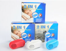 2 IN 1 ANTI SNORING DEVICE STOP SNORE SILICONE SNORE STOPPER SLEEP DEVICE (BLUE)