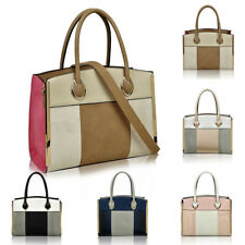 New Women's Faux Leather Large Tote Hobo Shopper Handbag Crossbody Shoulder Bag