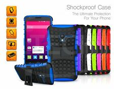 LG K10+ (2018) - Shockproof Tough Silicone Strong Case with Stand