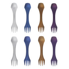 Ultra Strong Lightweight Travel Camping Titanium Spork Spoon Fork with Bag