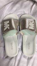 Michael Kors MK Slide Casual Sandals White Silver