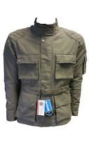 Men's COTTON WAXED Motorcycle,Motorbike wax cotton, WP Lined ARMOUR BIKER JACKET