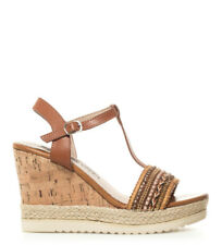 Xti - Sandalias India camel -Altura cuña: 10cm- Mujer chica