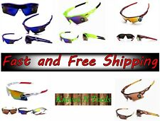 Sporty Bicycle Sunglasses Mens Cycling Red White Glasses UV400 Lens Green Frame