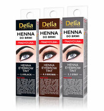 DELIA HENNA TRADITIONAL EYEBROW EYELASHES TINT POWDER KIT SET - US SELLER!!!