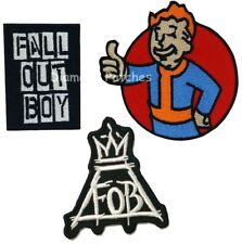 fall out boy FOB crown iron sew on patch embroidery badge music band Disney
