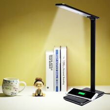 LED Desk Table Lamp Light Qi Wireless Charging Stand Touch Screen Phone Charger