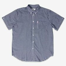 Brutus Mens Navy Gingham Short Sleeve MOD SKA Skinhead Retro Shirts