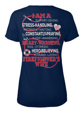 Firefighter -firefighters Wife- Eu - I Am A Support T-shirt Élégant pour Femme
