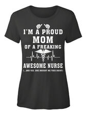 Nurse Nursing Tees 209 - I'm A Proud Mom Of Freaking T-shirt Élégant pour Femme