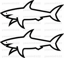 2 Paul And Shark logo badge stickers car decal Black White Silver Red UK Seller
