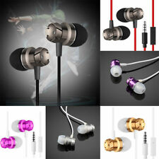 Metal In-Ear Headphones Earphones For Android Mobile Phone MP3 3.5mm Stereo UK